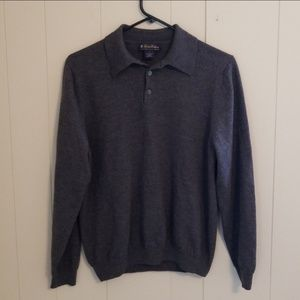 Brooks Brothers Merino Wool Gray Sweater